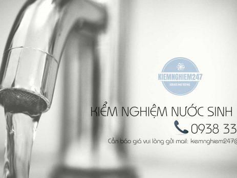 Kiểm nghiệm nước theo QCVN nhanh và uy tín