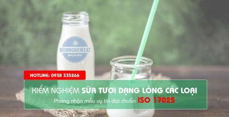 Kiểm nghiệm sữa tươi dạng lỏng