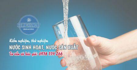 Kiểm nghiệm nước sinh hoạt nước sản xuất
