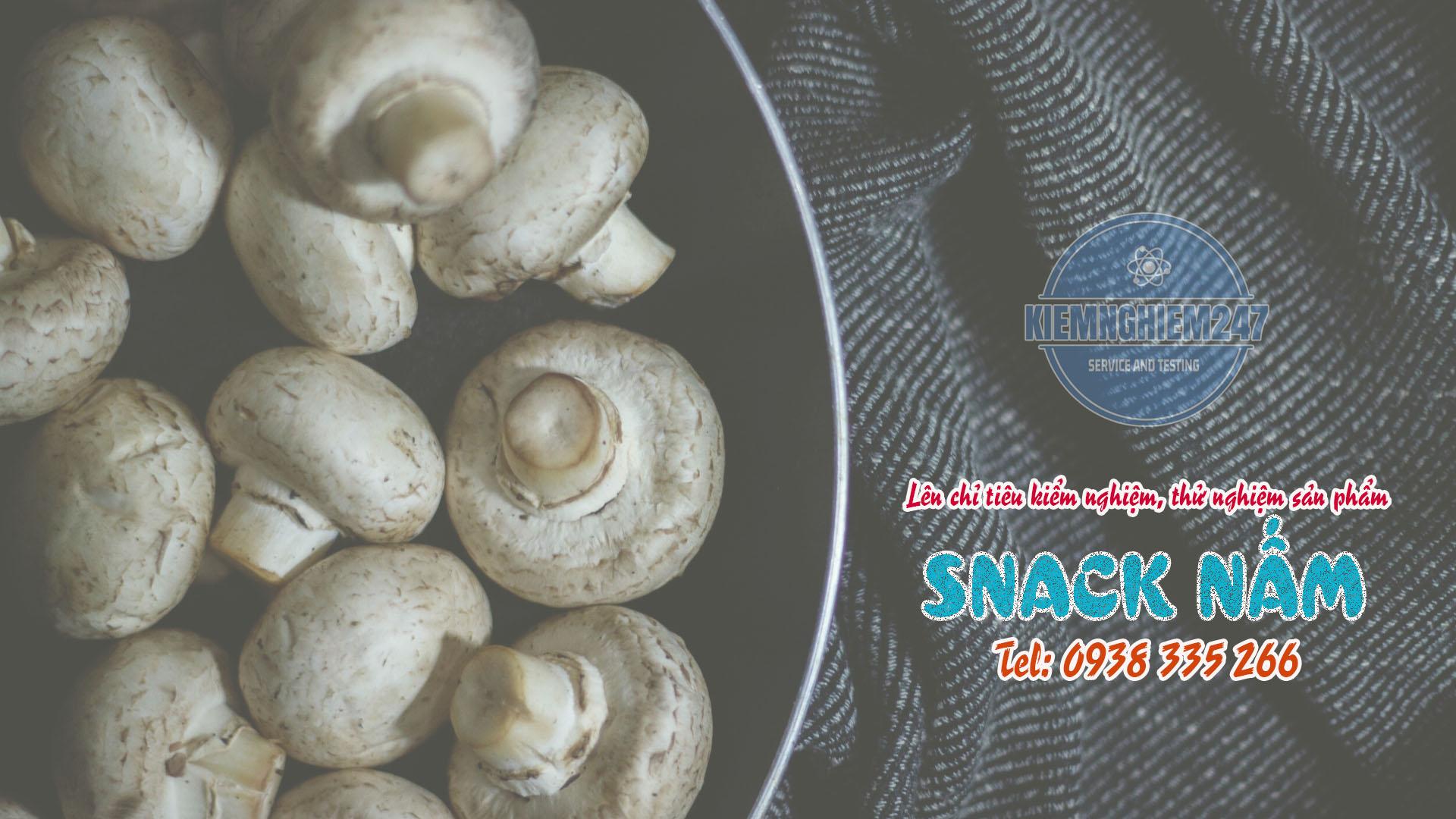 Kết quả kiểm nghiệm snack nấm