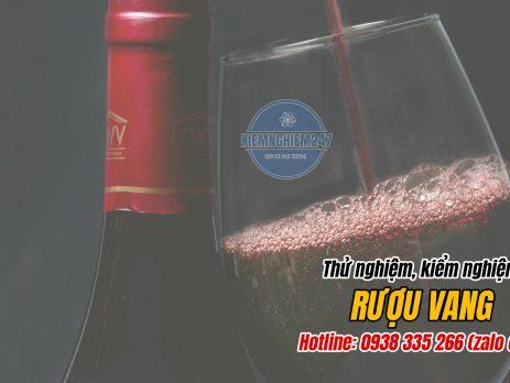 Kiểm nghiệm thử nghiệm rượu vang